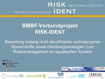 BMBF-Verbundprojekt RISK-IDENT - RiSKWa