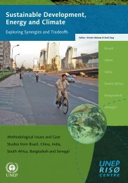 Sustainable development, energy and climate. Exploring sysnergies ...