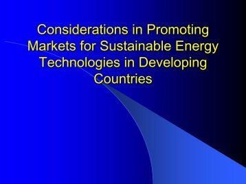 An Overview of Technology and Policy Options to Promote ...