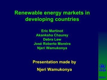 renewable energy markets in developing countries