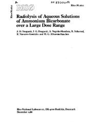 i Radiolysis of Aqueous Solutions of Ammonium Bicarbonate over a ...
