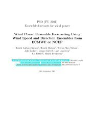 Wind power ensemble forecasting using wind speed and direction ...
