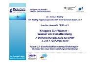 Wasser als Dienstleistung - Rhein-Ruhr-Institut für Sozialforschung ...