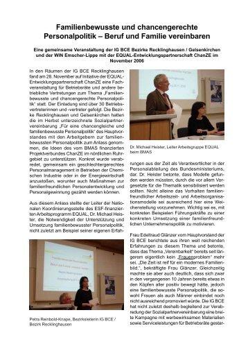 Familienbewusste und chancengerechte Personalpolitik – Beruf und ...