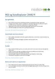 MÃ¥l og handleplaner 2008/9