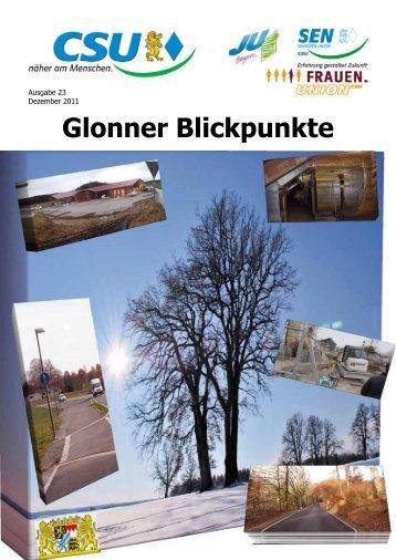 Glonner Blickpunkte - CSU Glonn