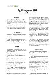 Læs alt om skriftlige prøver her - Risskov Gymnasium