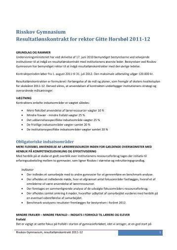 Resultatløn for skoleåret 2011/12 - Risskov Gymnasium