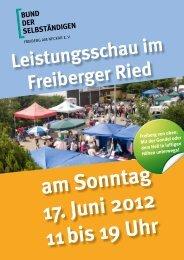 Leistungsschau im Freiberger Ried - BDS Freiberg eV