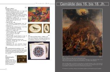 Gemälde des 16. bis 18. Jh. - Kunstauktionshaus Günther in Dresden