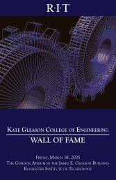 WALL OF FAME - Rochester Institute of Technology