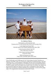 The Return of the Desert Fox - Badwater 2006 -