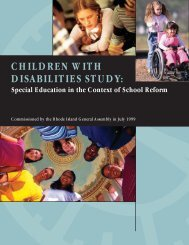 CHILDREN WITH DISABILITIES STUDY: Special Education ... - RITAP