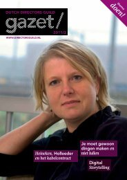 DDG Gazet nr. 2, 2011 - Dutch Directors Guild