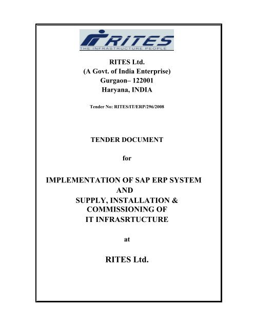 RITES Ltd  (A Govt  of India Enterprise)