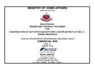 Finanacial Bid , DCP office Sec-5,Rohini - Tenders India