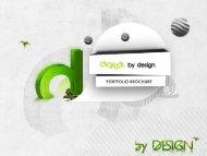 PORTFOLIO BROCHURE - Digital By Design