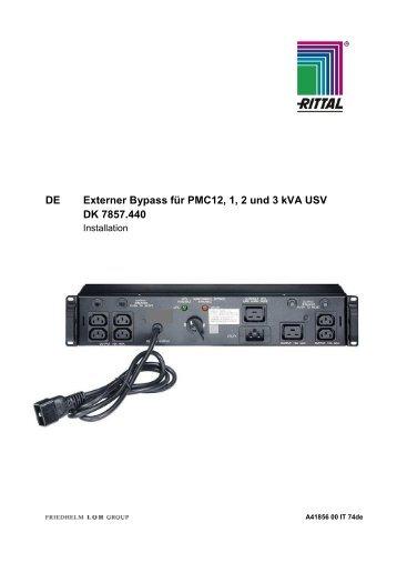 DE Externer Bypass für PMC12, 1, 2 und 3 kVA USV DK ... - Rittal