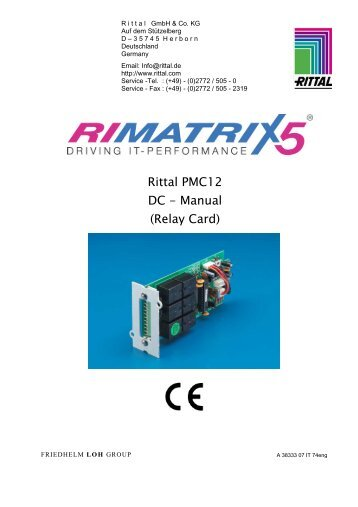 Rittal PMC12 DC - Manual (Relay Card)