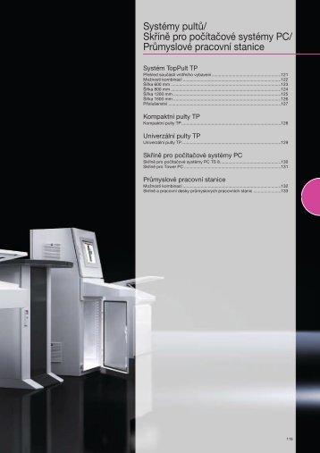 Systémy pultů/ Skříně pro počítačové systémy PC ... - Rittal