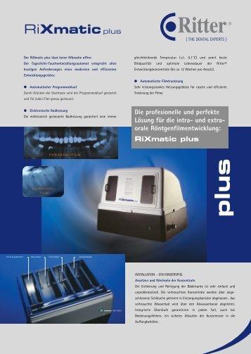 RiXmatic plus RiXmaticplus - Ritter Concept GmbH