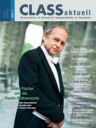 CLASSaktuell - CLASS - Association of Classical Independents  in ...