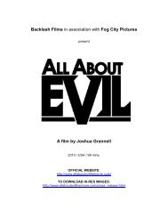 AAE Production Notes - FINAL -  All About Evil