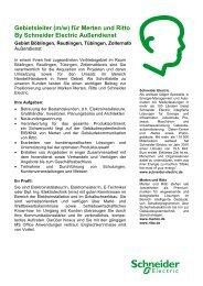 Gebietsleiter (m/w) für Merten und Ritto