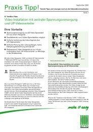Video-Installation mit zentraler Spannungsversorgung und ... - Ritto