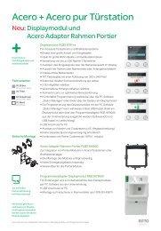 Acero + Acero pur Türstation - Ritto