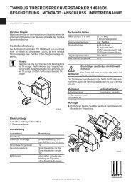 twinbus türfreisprechverstärker 14680/01 beschreibung - Ritto