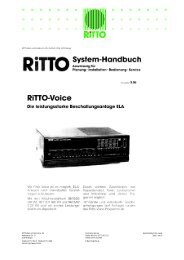 Systemhandbuch Ritto Voice