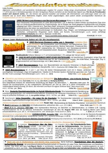 Die Bahnreform - eine kritische Sichtung ... - Ritzau KG