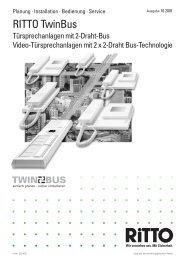 Systemhandbuch TwinBus - Ritto