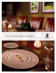 CORE Kitchen & Wine Bar Large Party Brochure - Ritz-Carlton