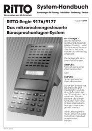 Systemhandbuch Regie - Ritto