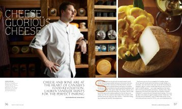 Cheese and wine are at the heart of Canada's food ... - Ritz-Carlton