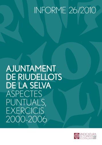 Informe 26/2010 - Ajuntament de Riudellots de la Selva