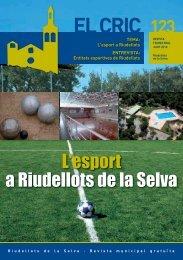 El Cric nº 123 juny - Ajuntament de Riudellots de la Selva
