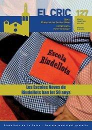 El Cric nº 127 juny: Les escoles noves de Riudellots han fet 50 anys