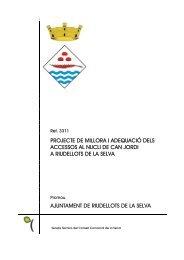 projecte de millora i adequació dels accessos al nucli de can jordi a ...
