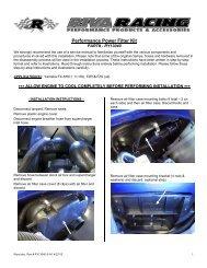 Performance Power Filter Kit - RIVA Racing