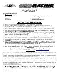 RS5-0050 Installation Instructions - RIVA Racing