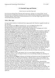 11. Protokoll Auge und Filarien Teil A: Das Auge