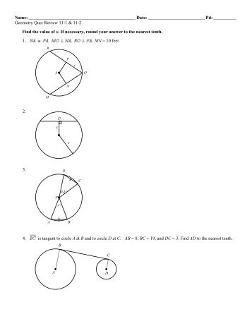 Geometry Chapter 11 Review