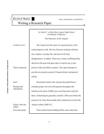 write a timeline for a research paper