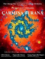 CARMINA BURANA - The Chicago Bar Association