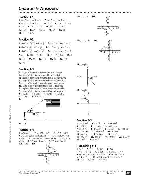 Chapter 9 Answers Continued