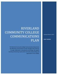 2013 Riverland Community College Communications Plan (.pdf)