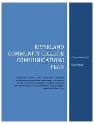 2013 Riverland Community College Communications Plan (.pdf)